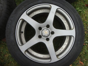 MICHELIN ALPINE SNOW TIRES MOUNTED ON ALLOY RIMS 215/55R17
