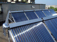 Solar Pool heater 50,000 Btu's replaces heatpump!