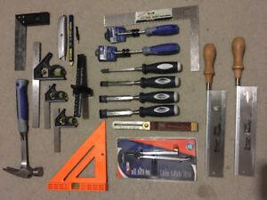 Tool box and tools (carpentry)
