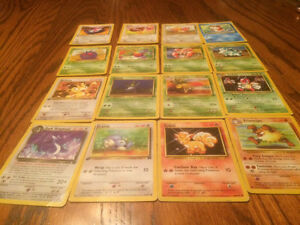 Old mid condition Pokémon cards