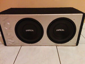 """KAPTION AUDIO 10"""" SUBWOOFERS in Ported Box"""