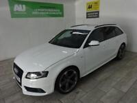 WHITE AUDI A4 2.0 AVANT TDI S LINE BLACK EDITION ***FROM £73 PER WEEK***