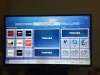 """50"""" TOSHIBA SMART TV SLIMLINE 100Hz USB FREEVIEW HD Full HD 1080p CAN DELIVER"""