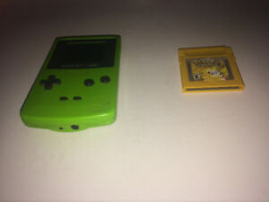 Lime green GAME BOY color with Special Pikachu Edition
