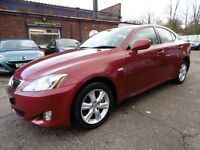 Lexus IS 220D (12 MONTH MOT + LOW RATE FINANCE AVAILABLE) (red) 2006