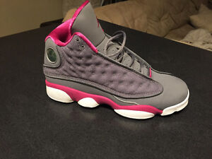 Air Jordan 13 GS – Cool Grey – Fusion Pink |Size 7y