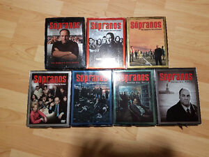 All 6 Seasons of The Sopranos, Excellent Condition.
