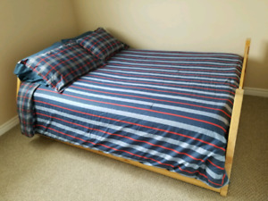 BIRCH DOUBLE BED AND DRESSER FOR SALE