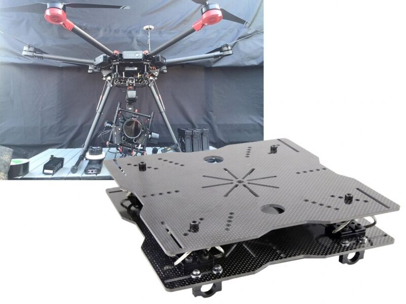 Wire-Rope Isolator Mounting Plates Set for DJI Camera Gimbal, ZAP ref gopro