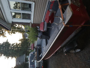 Rebuilt 16 side console trade for bass boat