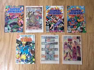 """DC """"Super Powers"""" & """"Teen Titans"""" comics (1981-1985) -7 for $10"""