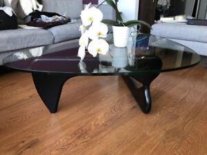 Designer - Noguchi Glass Coffee Table- Large