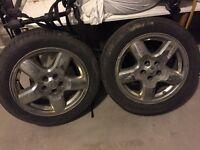 "18"" jeep rims w/ hanook tires"
