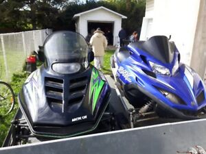 Skidoo's and trailer FOR SALE sold seperatley  or all together