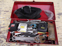 TOOLS - ASSORTED + BOX (small) - Lots