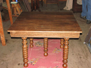 Antique ash dining table (looks a lot like oak)