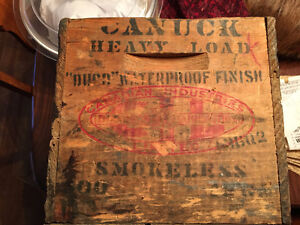 1920 Wooden Ammunition Box Canadian Industries Ltd. Strathcona County Edmonton Area image 2