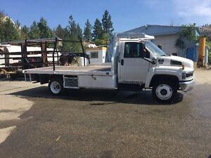 White Chevrolet C4500 Flat Deck Truck - Diesel