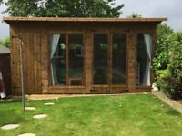 16ft x 8ft pent summerhouse/ shed/ office/ man cave with storage