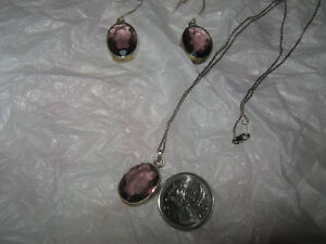 Sterling Silver Amethyst Set