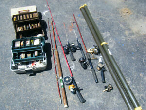 SOLD PPU  Vintage Fishing Rods, Reels, Boxes