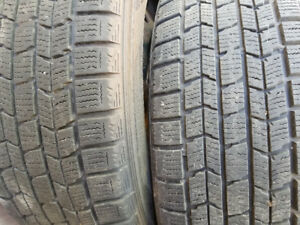 205/65R16 Chevy Malibu Platinum snow tires on rims