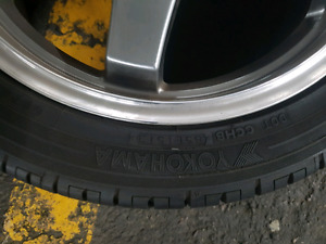 Yokohama tire plus enkei rims