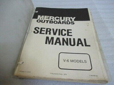Mercury Outboards V-6 Model Factory OEM Service Repair Manual P/N C-90-86133