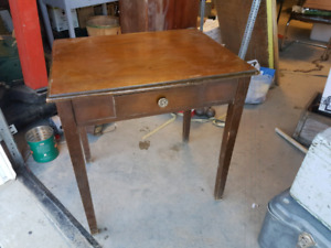 Small solid wood vintage entry way or side table