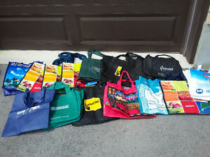 Lot of 20 assorted reusable tote shopping bags London Ontario image 5