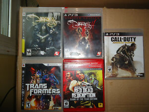 Various PS3 games (in cases)