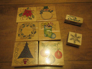 Winter rubber stamps