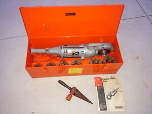 NICE!!  RIDGID 700 Threader with case, dies and reamer.