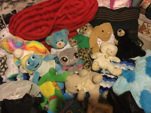 Random assortment of build a bear stuffies