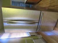 URGENT ALMOST NEW LG STAINLESS STEEL FRIDGE WITH FRENCH DOORS