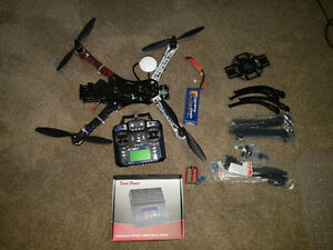 DJI f450/charger/parts/controller/battery/ardupilot and extras