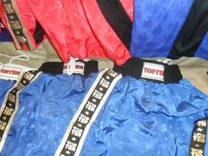 Used Boxing Competition Clothes - Trunks and Tops - Red & Blue London Ontario image 4