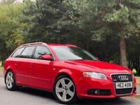 2006 Audi A4 Avant TDI S LINE TDV 2.0 5dr Red Estate 140BHP WITH WARRANTY