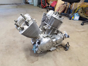 Yamaha Virago XV535 Engine: Good Compression and Properly Stored