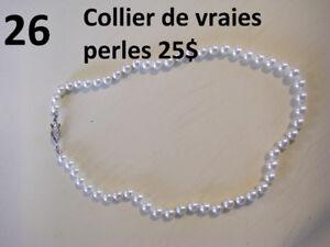 Superbe collier de vrai perle provenant du bijoutier
