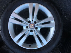 "Mercedes ML350 19"" Wheels + Tires Michelin Premier LTX 255/50R19"