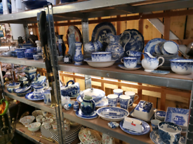 Blue and white dinnerware all sorts