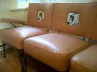 Chaise/Sofa sectionne intérieur et extérieur des années 50