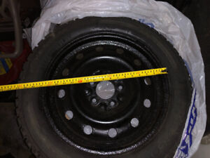 Set of 4 Winter tires with rims, originally on Honda Civic