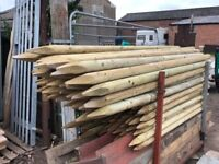 8 ft Wooden Field Fence Posts
