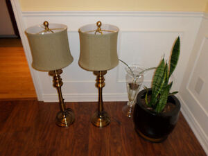 Tall Table Lamps - set of 2