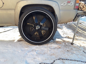 26 inch 6 bolt wheels and tires