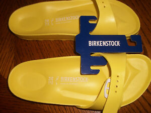 Burkenstocks  neon yellow--Madrids  New price  $ 37.00 Belleville Belleville Area image 2