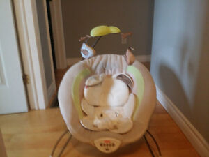 fisher price snuggle bunny bouncer chair