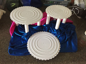 3 Tier Premade Cake Stand with gum paste Flower topper included! Strathcona County Edmonton Area image 3